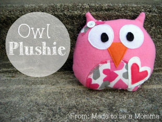 Owl Plushie Made to be a Momma