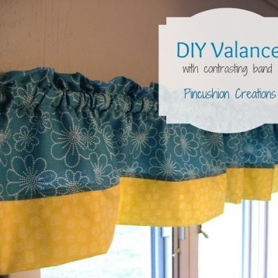 DIY Valance with Contrasting Band