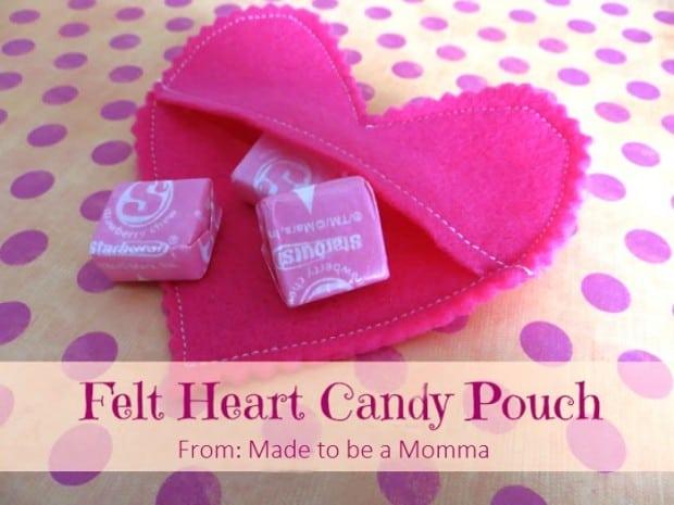 Felt Heart Candy Pouch