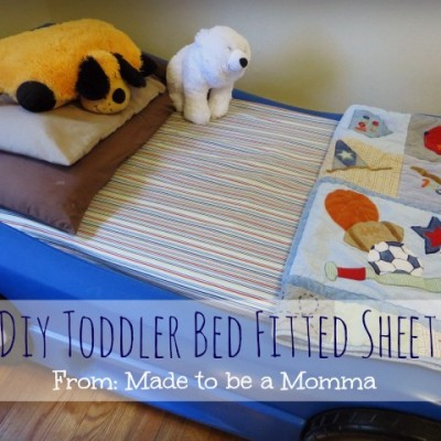 Diy Toddler Fitted Bed Sheet