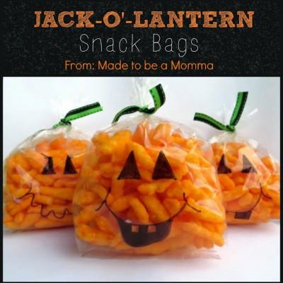 {Jack-O-Lantern} Snack Bags