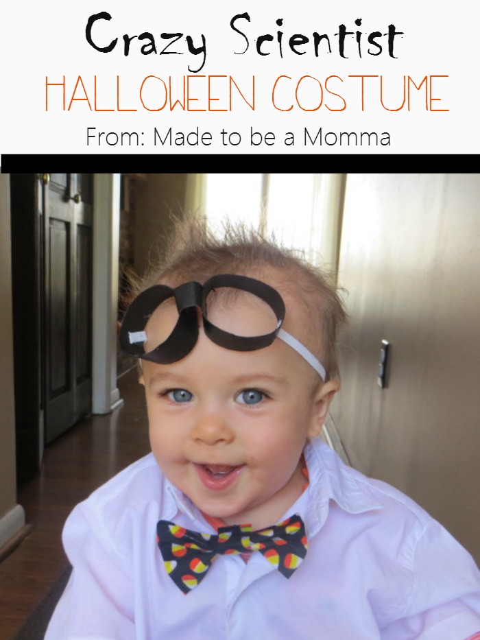 Diy halloween costume crazy scientist made to be a momma