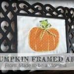 Pumpkin Framed Art
