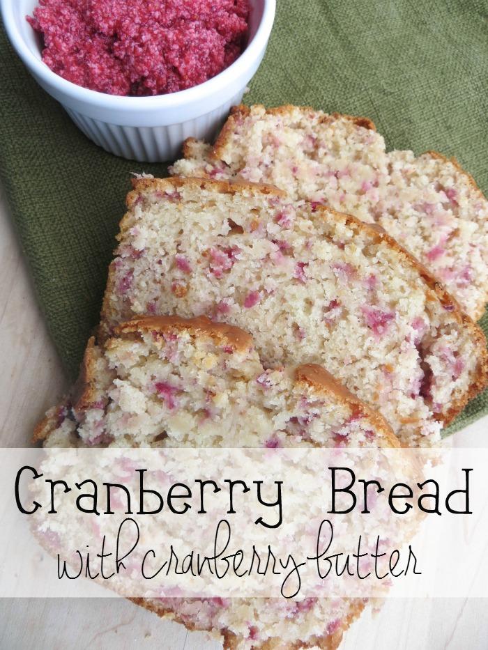 cranberries, bread