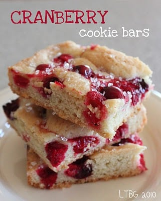 Cranberry Cookie Bars6
