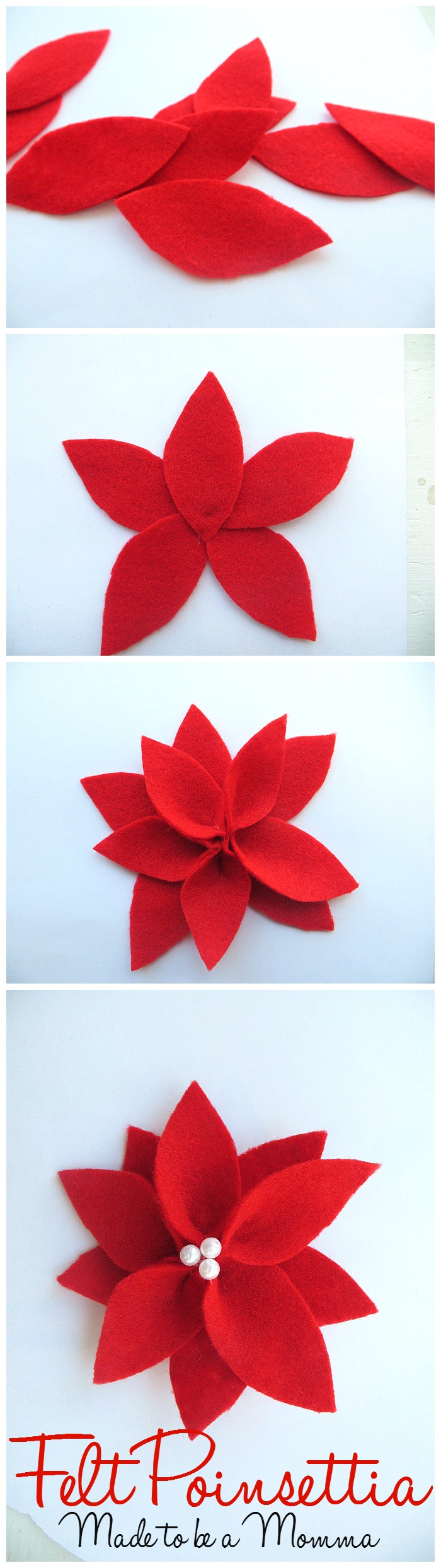 Felt Pointsettia Collage
