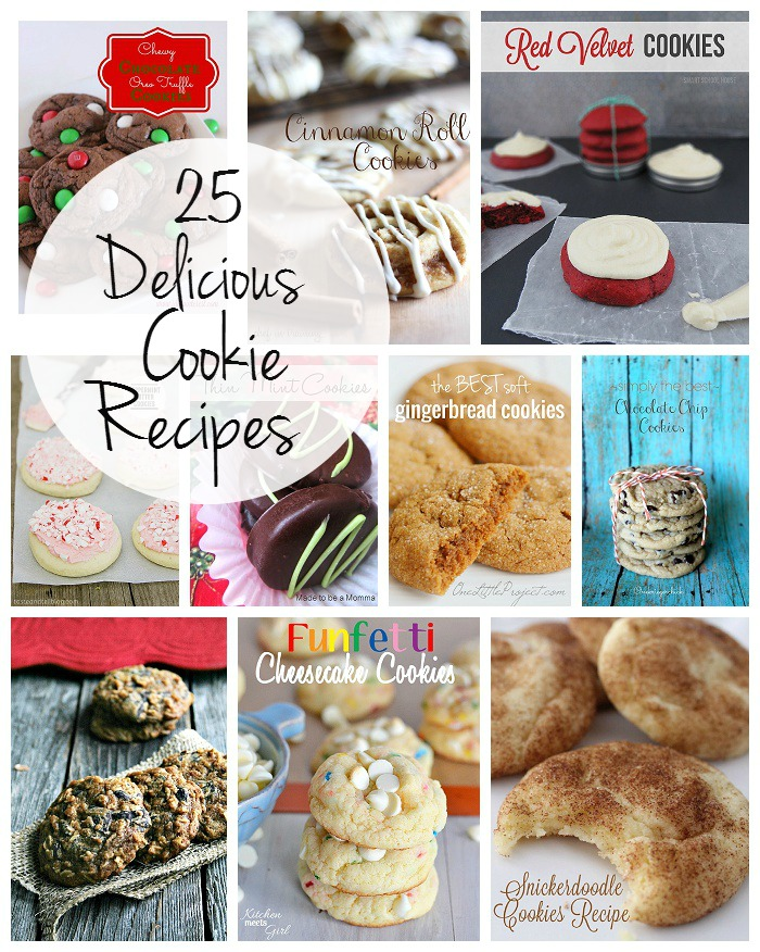 25 Christmas Cookie Recipes!  Perfect for any cookie exchange, parties and as gifts!