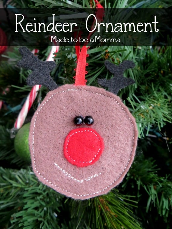 Reindeer Ornament Made to be a Momma