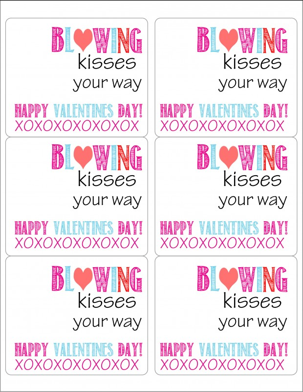 photo regarding Printable Valentine Craft identify Valentine Printable: Bubbles - Built In the direction of Be A Momma