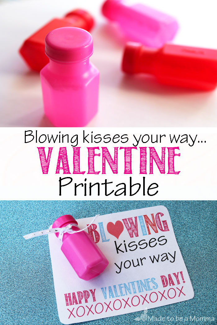 Blowing Kisses Your Way...Easy Valentine Idea that is perfect for the kids!