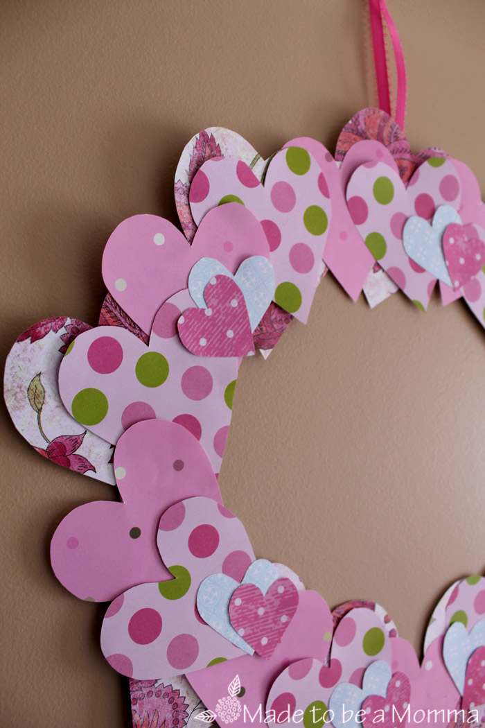 Close Up Heart Paper Wreath