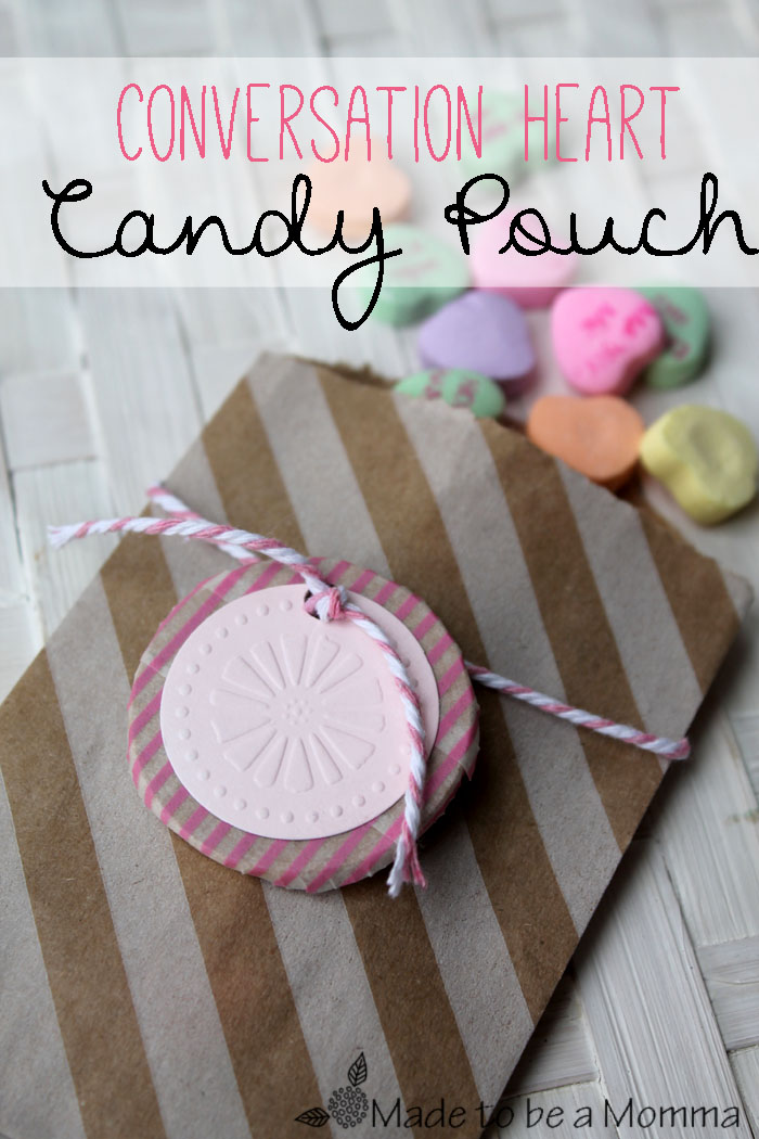 Conversation Heart Candy Pouch