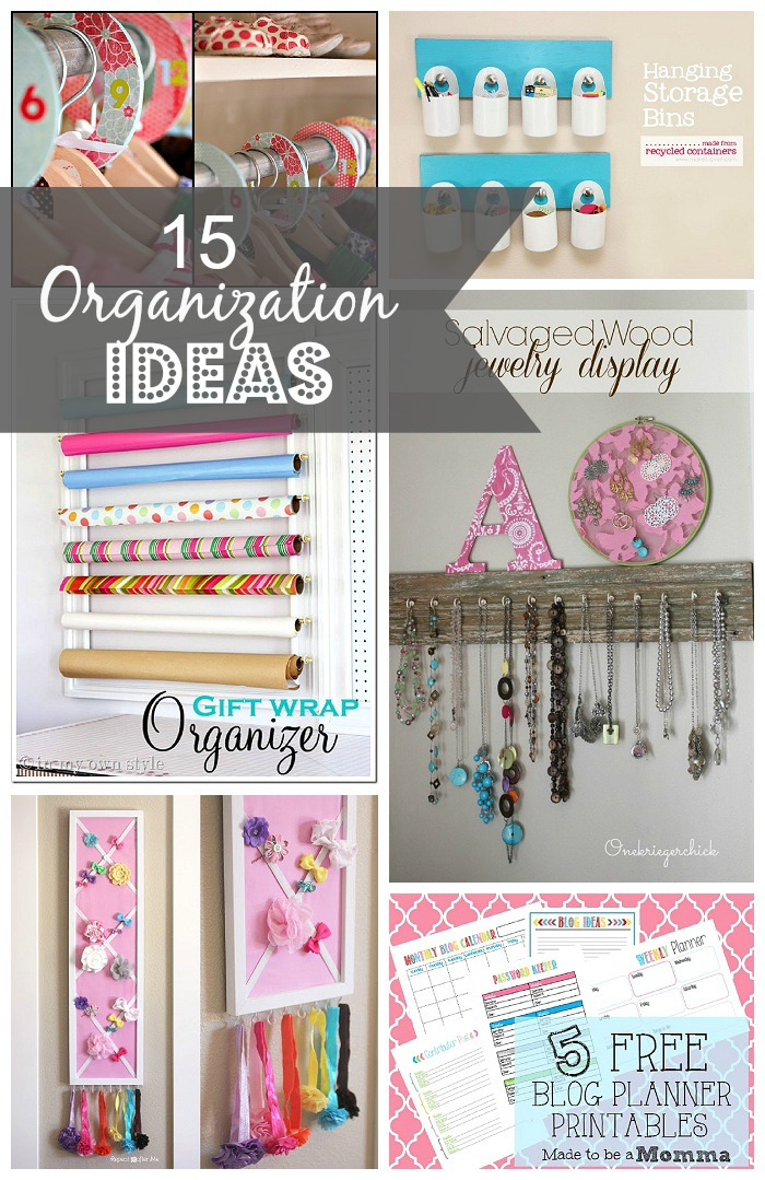 15 Home Organization Tips and Ideas--madetobeamomma.com