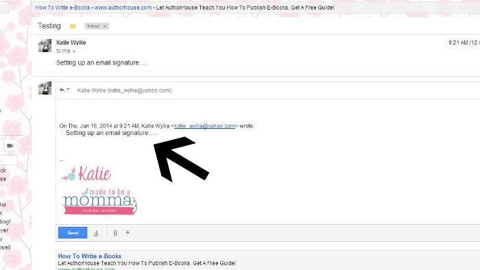 How to make an Email Signature in G-mail - Made To Be A Momma