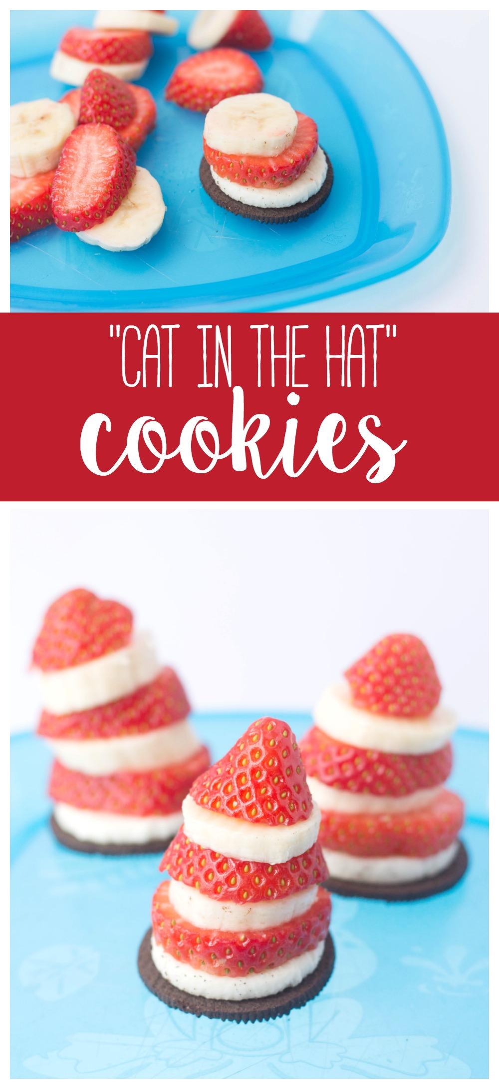 Cat in the Hat Cookies   Dr. Seuss   Kids Treat   Healthy Snack