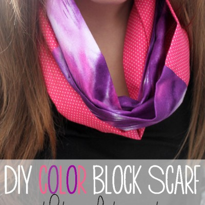 Color Block Scarf with Two Fat Quarters