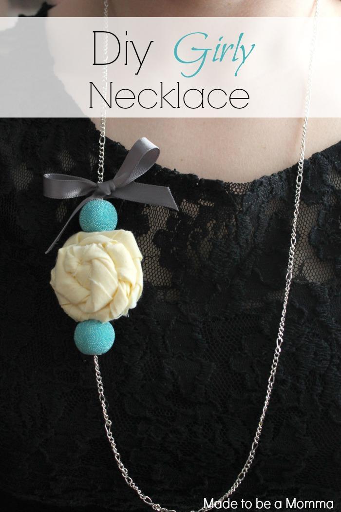 Diy Girly Necklace