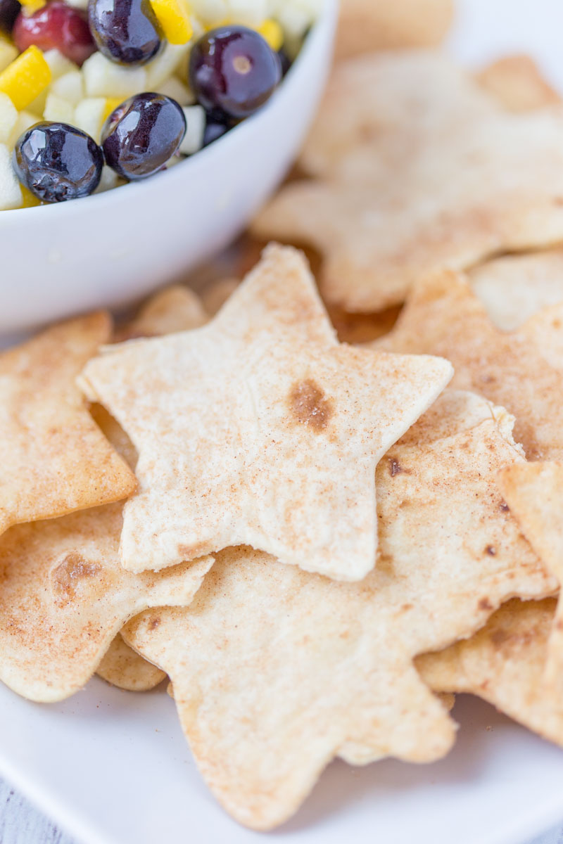 Cinnamon Sugar Tortilla Chips Cookie Cutters
