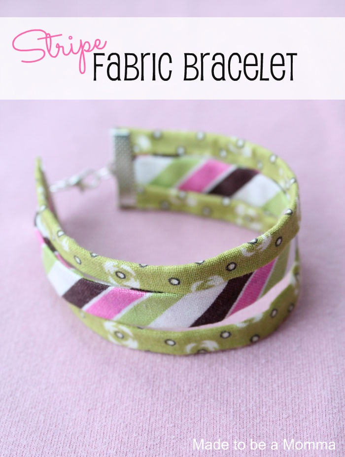 Stripe Fabric Bracelet