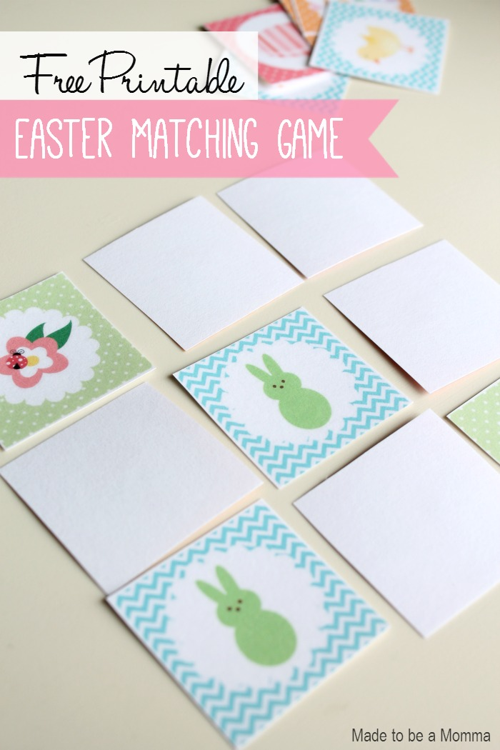 Free Printable: Easter Matching Game