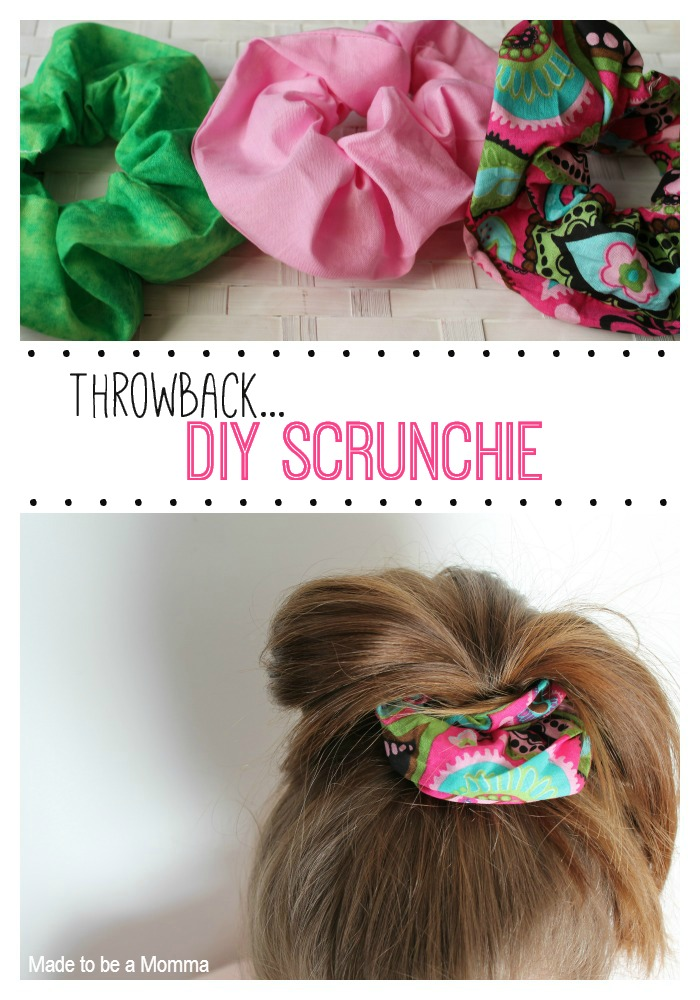 Throw Back Diy Scrunchie