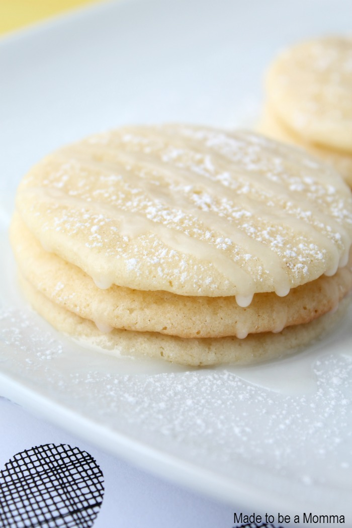 Lemon Cookies with Glaze