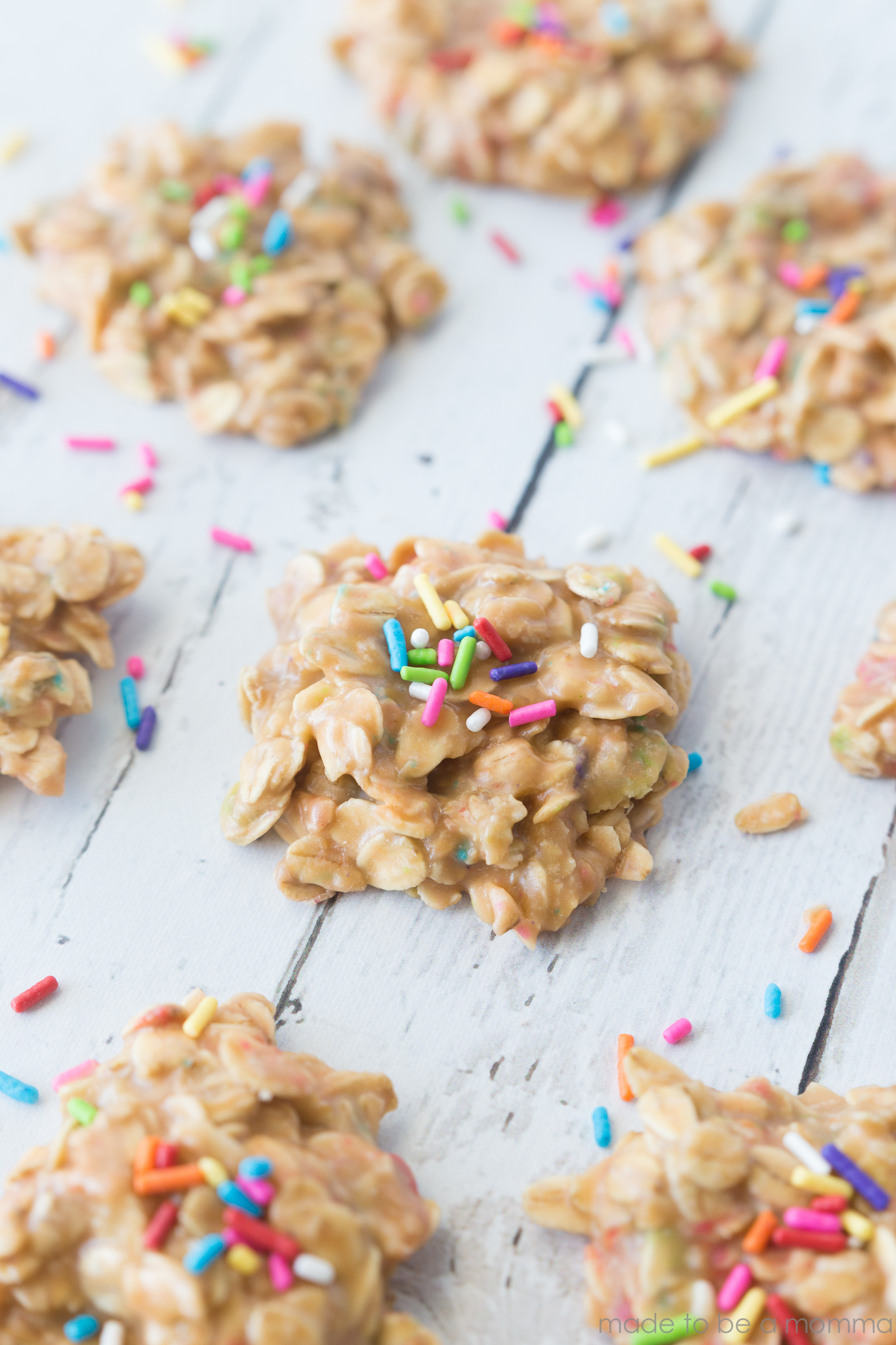 No-Bake Butterscotch Sprinkle Cookies - Made To Be A Momma
