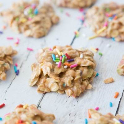 No-Bake Butterscotch Sprinkle Cookies