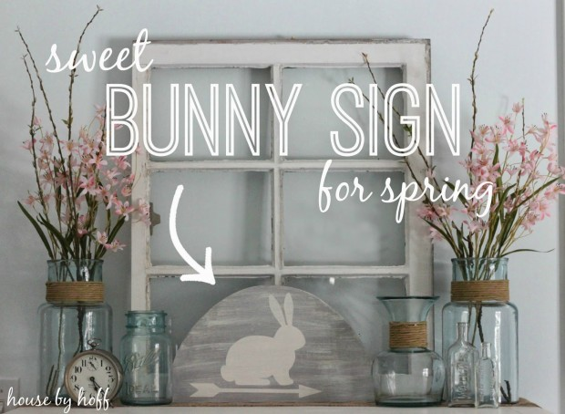 sweet bunny sign for spring