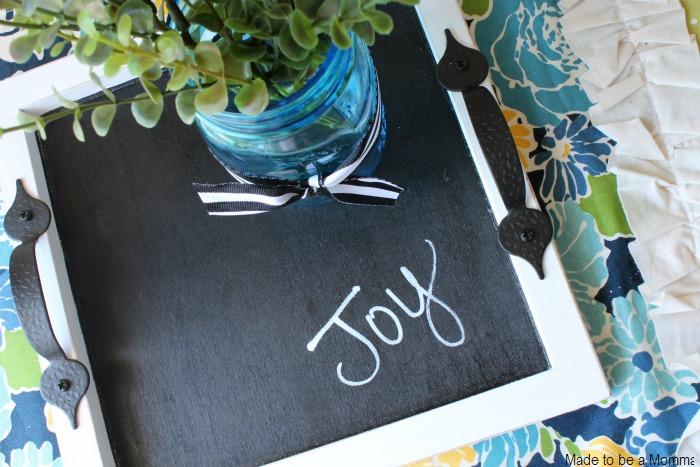 Chalkboard Tray Centerpiece