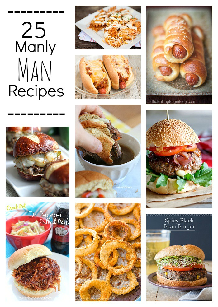 Manly Man Recipes: burgers, steaks, fries and more!