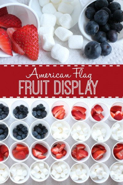 American Flag Snack Tray
