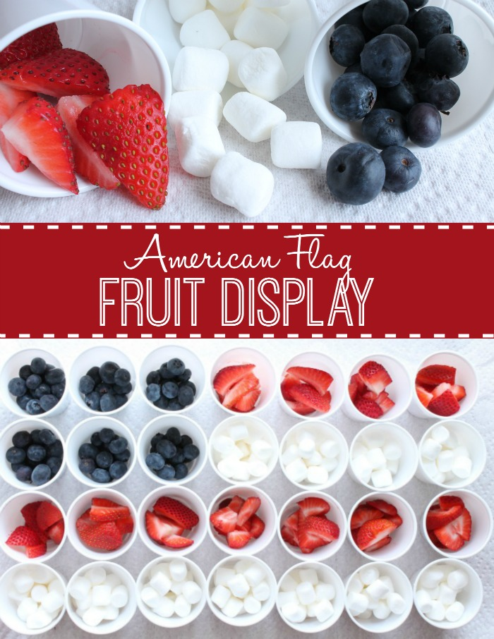 American Flag Fruit Display