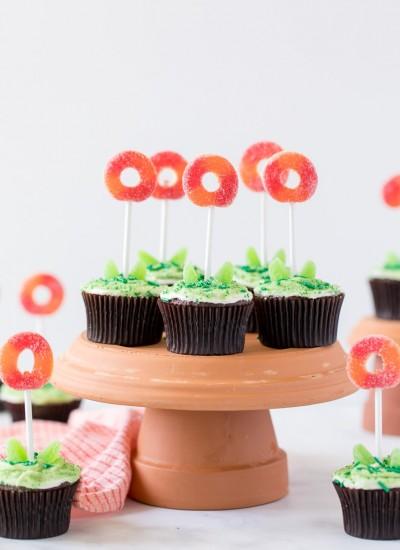 flower pot kids cupcakes
