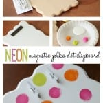 Neon Magnetic Polka Dot Clipboard