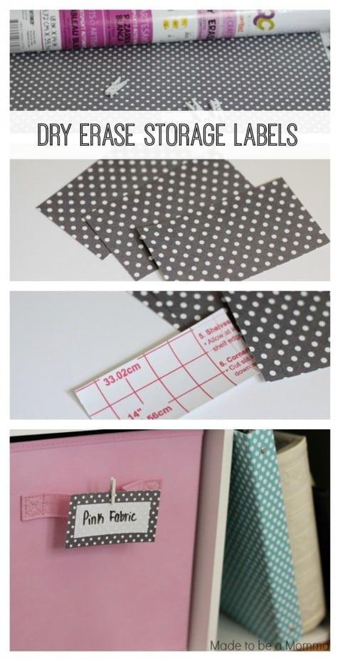 Dry Erase Storage Labels Collage
