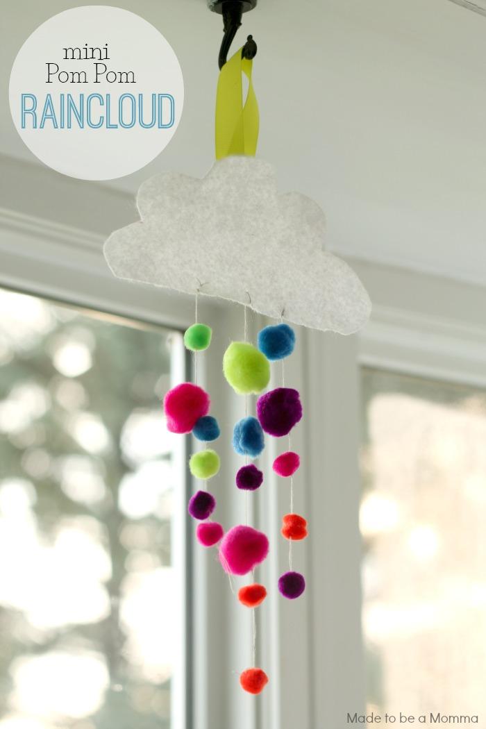 Mini Pom Pom Raincloud