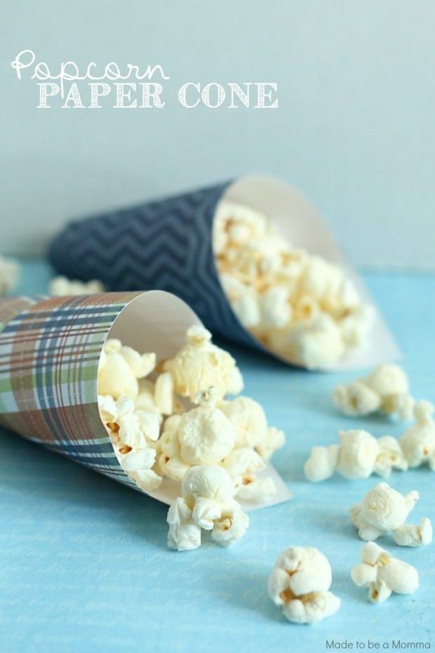 Popcorn Paper Cone- super simple and inexpensive!