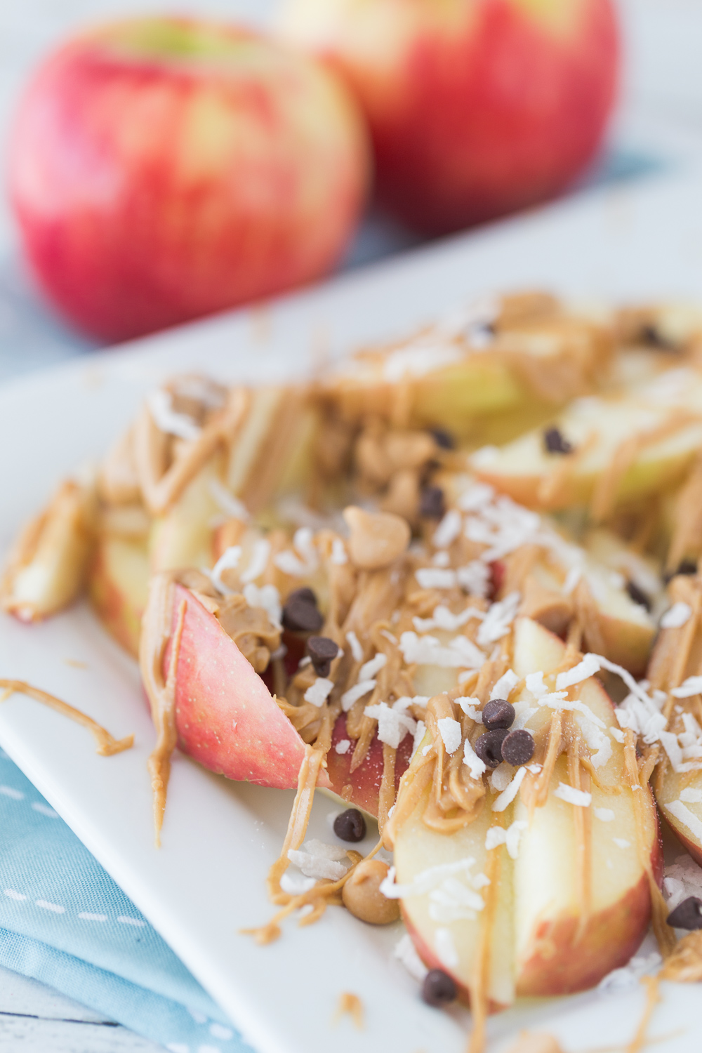 peanut butter apple nachos made to be a momma
