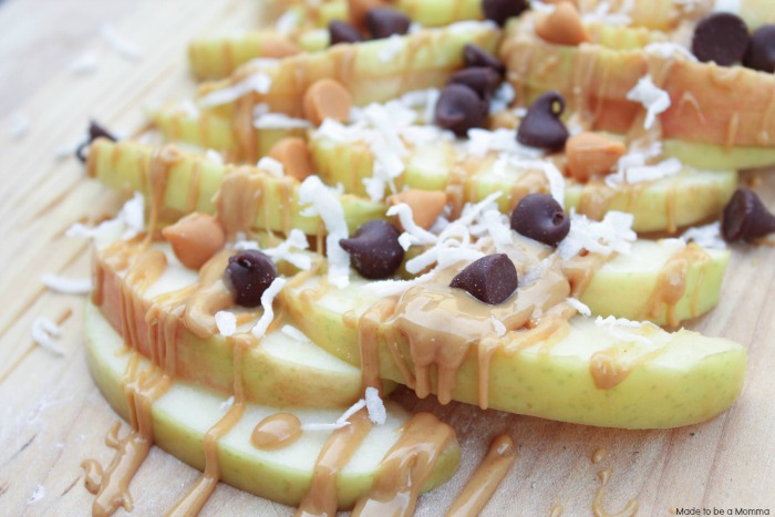 Apple Nachos with Chocolate Chips
