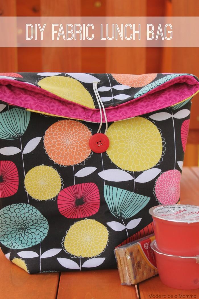 Diy Fabric Lunch Bag