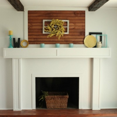 Fireplace Redo: Before & After