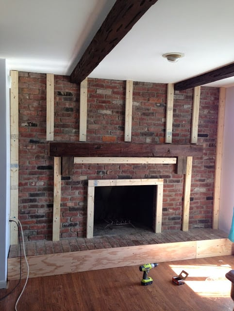 Fireplace Redo Before amp After Made To Be A Momma