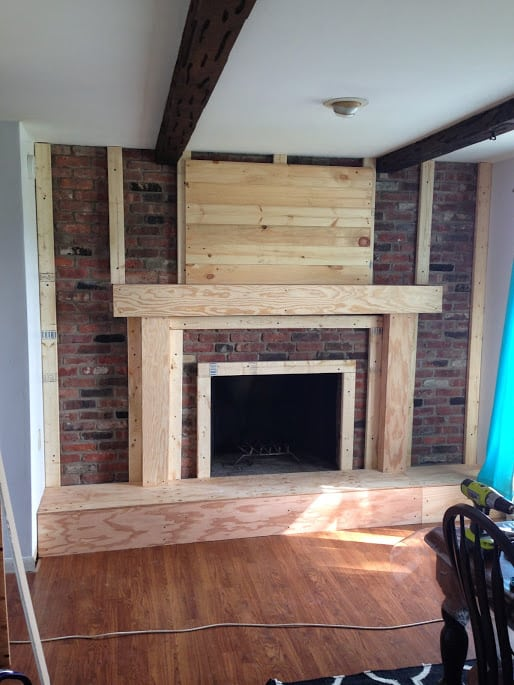 Fireplace Redo: Before & After - Made To Be A Momma