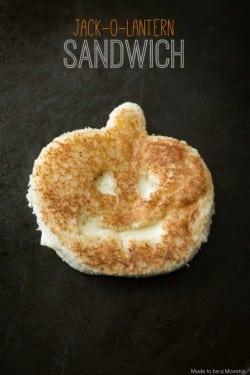 Jack-O-Lantern-Sandwich