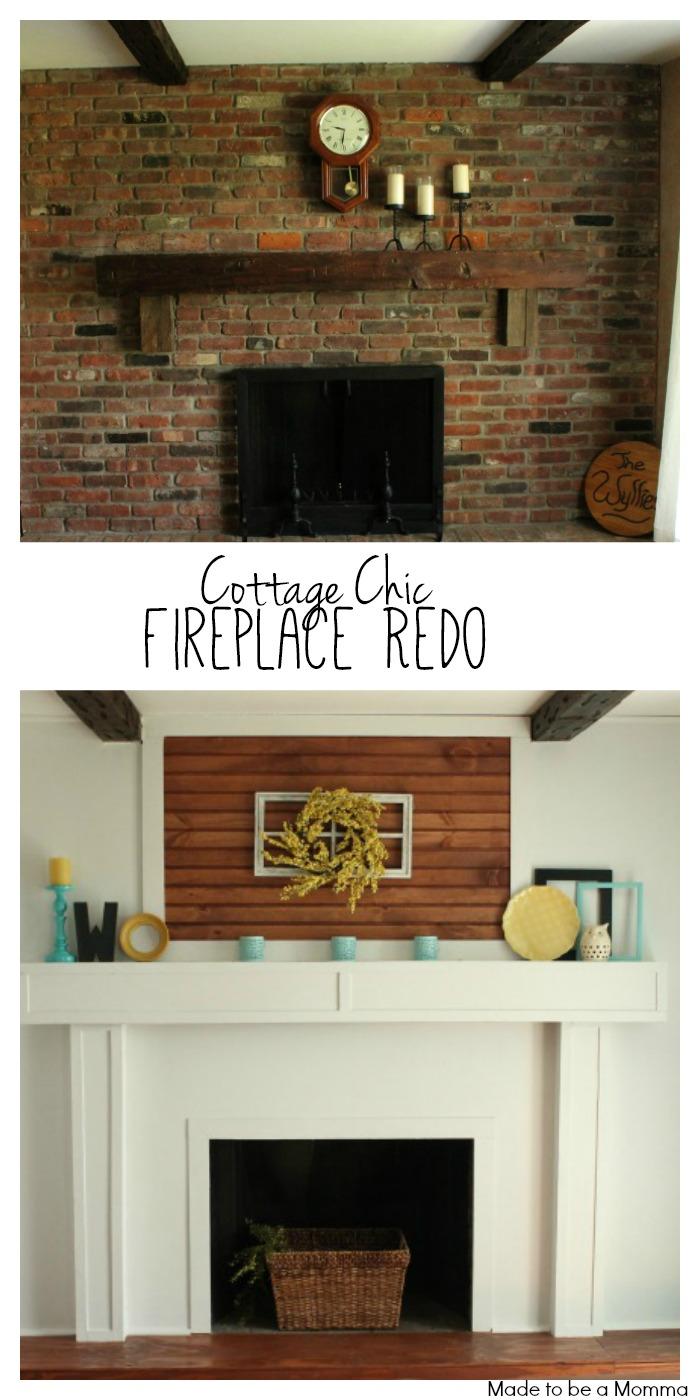 Pinterest Fireplace Redo