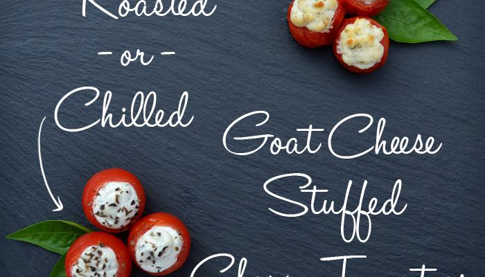 Goat Cheese Stuffed Cherry Tomatoes