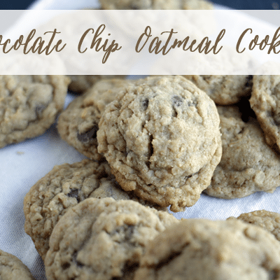 Chocolate Chip Oatmeal Cookies (Guest Post)