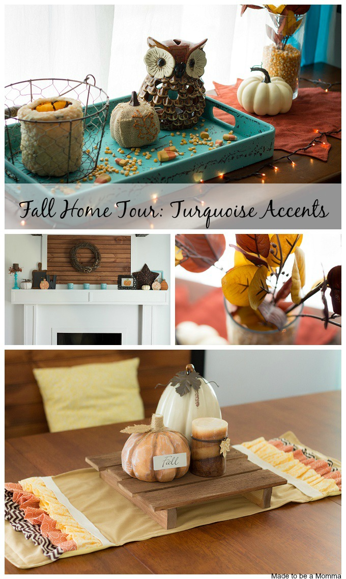 Fall Home Tour Turquoise Accents