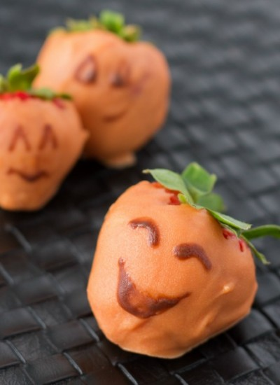 Chocolate Covered Halloween Strawberries